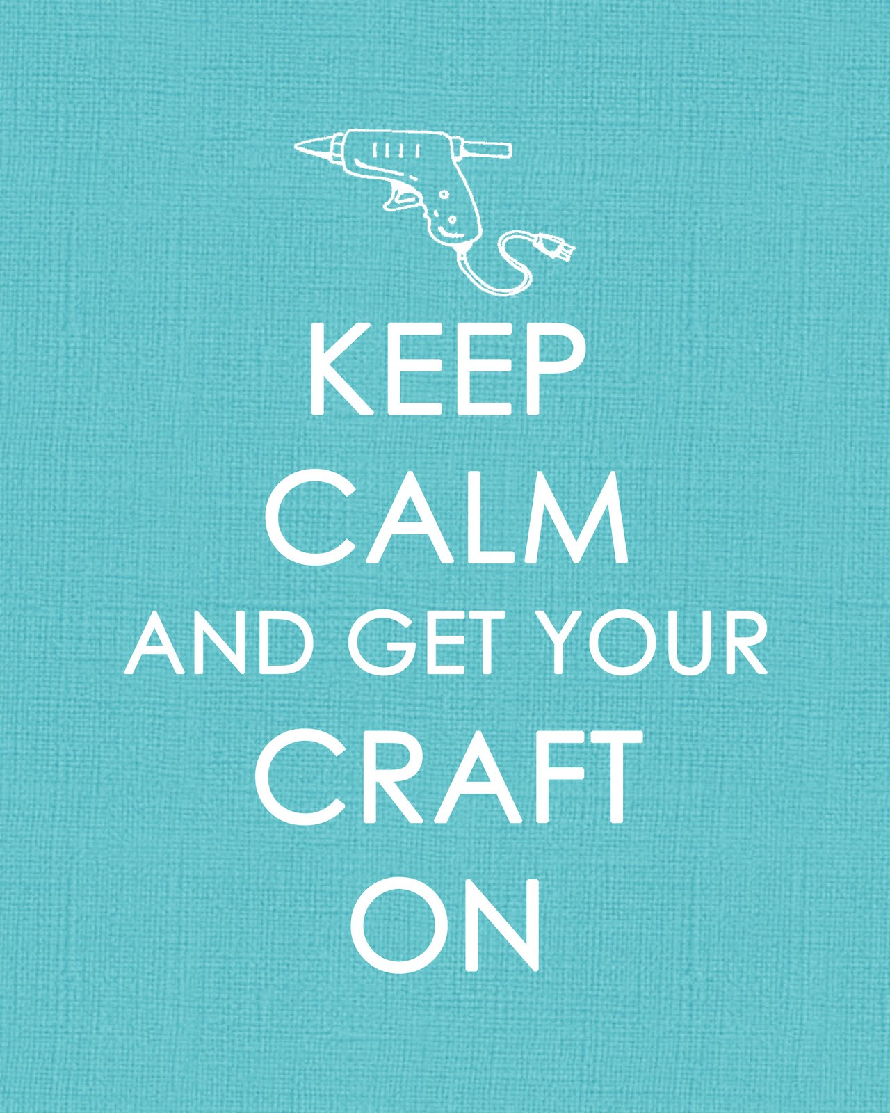 Craft On Poster AQUA