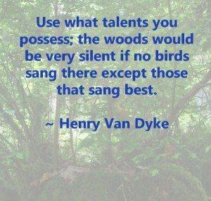 Talents-HenryVanDyke