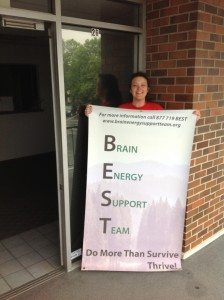 BEST Founder and CVO, Penny Condoll outside Our BEST Space in University Place, WA