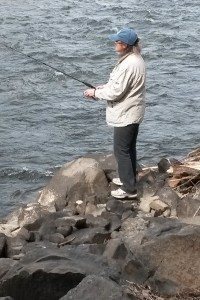 Penny Condoll fishing the beautiful Yakima River.