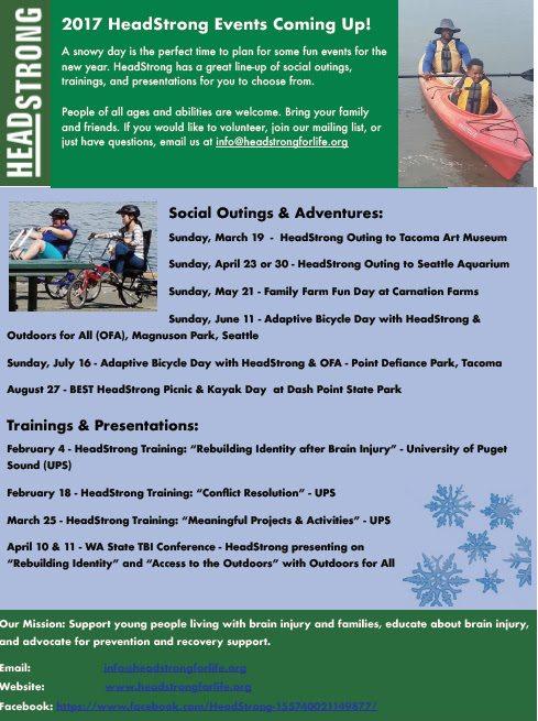 Organization Event Calendar : Brain energy support team headstrong organization