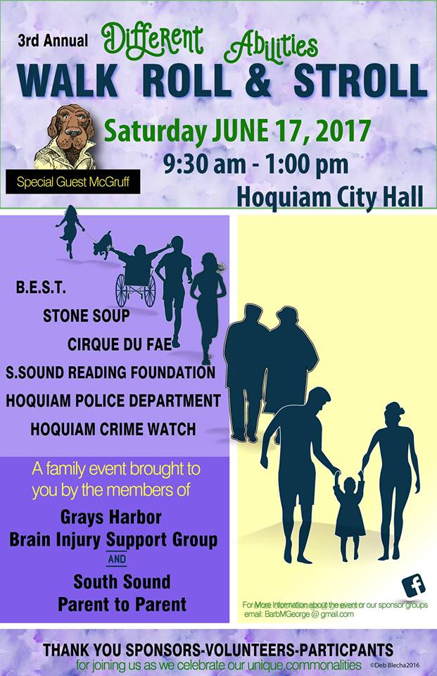 Grays Harbor County: Walk, Stroll and Roll June 17, 2017