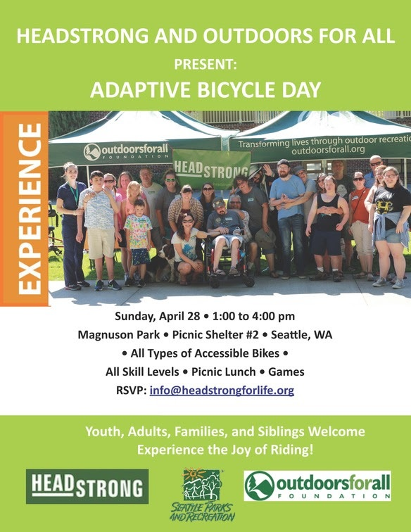 Family Event: Adaptive Bicycle Day April 28, 2019