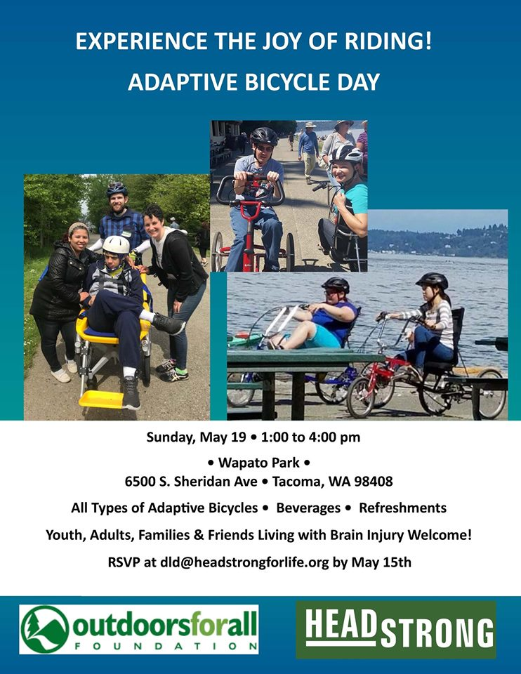 Adaptive Bicycling Day May 19, 2019 Tacoma, WA