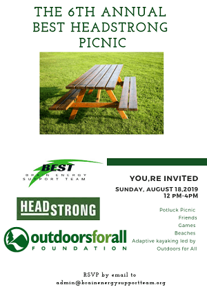 The 6th Annual BEST HeadStrong Picnic Coming August 18, 2019