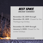 BEST Holiday Hours Update Fall and Winter 2019