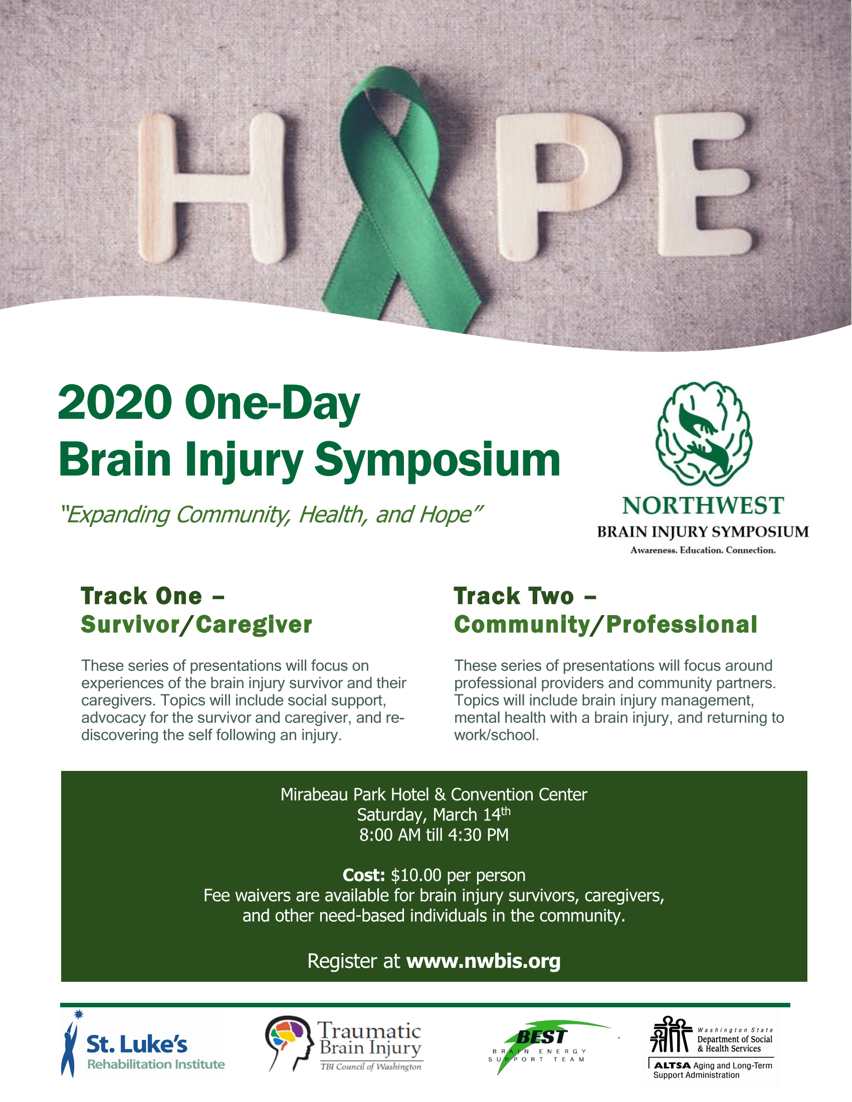 (Spokane): One Day Brain Injury Symposium March 14, 2020
