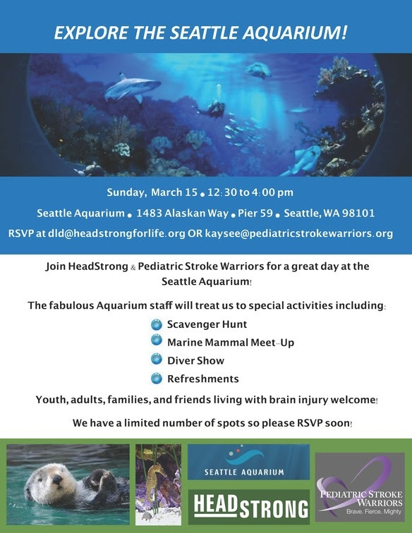 Join BEST Friends HeadStrong at the Seattle Aquarium March 15, 2020