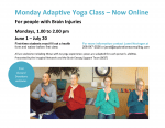 Online Accessible Yoga for Brain Injury Survivors Starts June 1