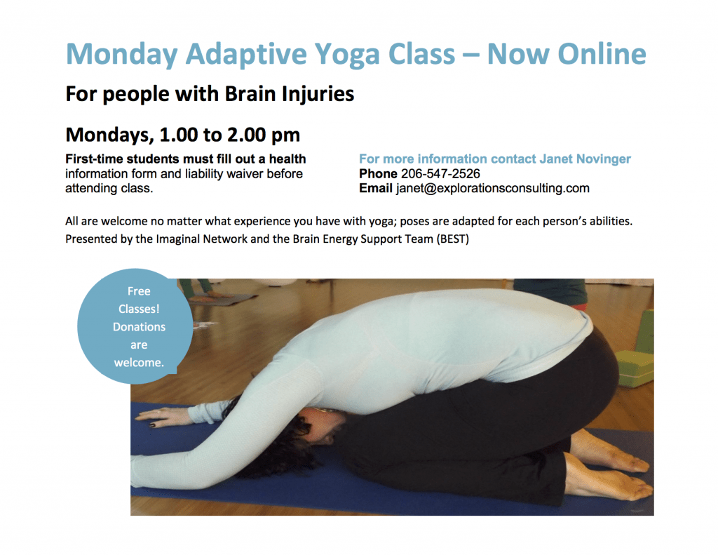 online yoga class poster