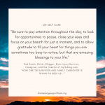 Self Care Quote Series: Rod Rawls