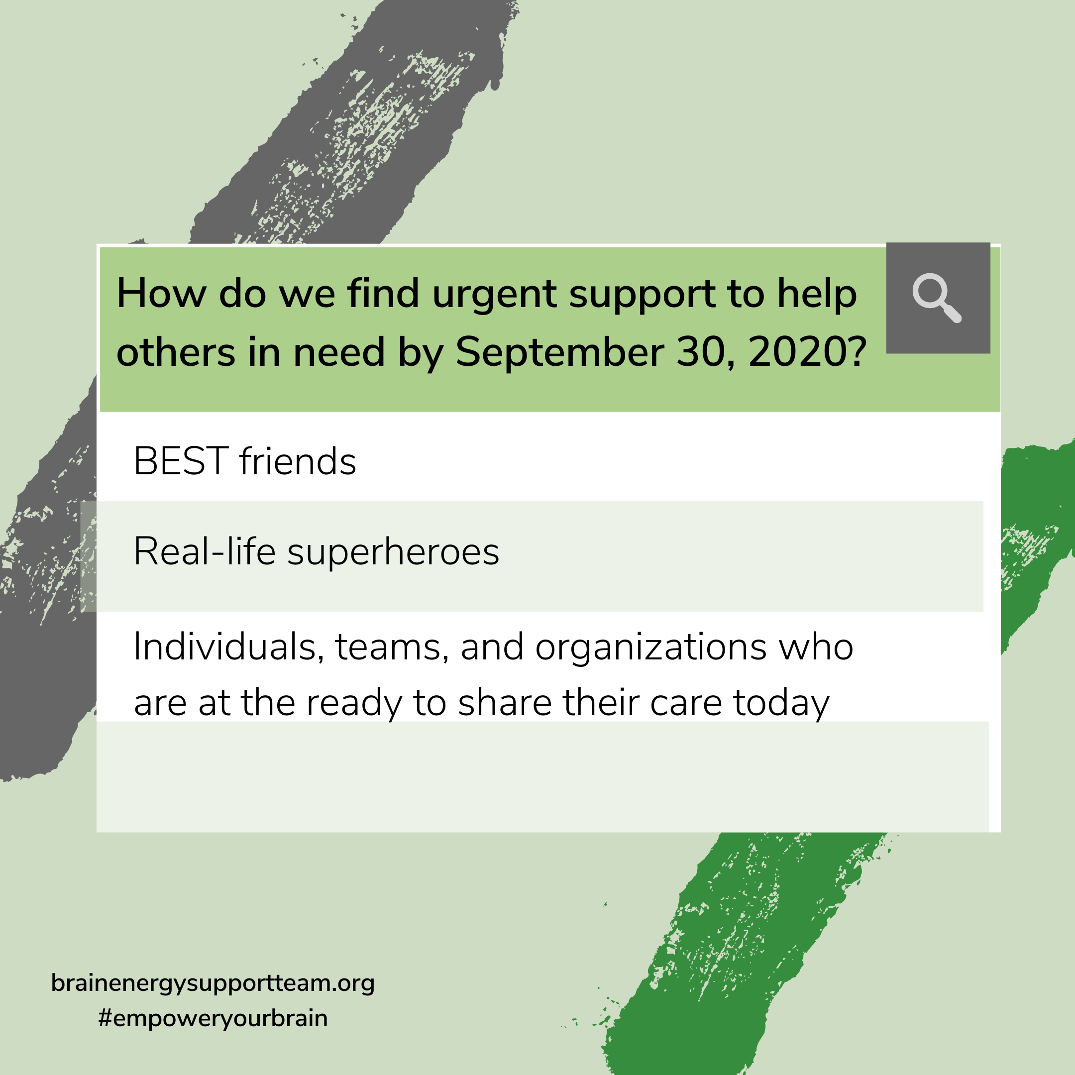 September 30, 2020: Support in 4 Steps